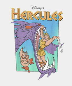 Disney Hercules Hydra Battle Retro Graphic T Shirt