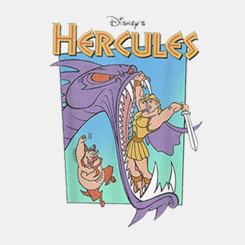 Disney Hercules Hydra Battle Retro Graphic T Shirt