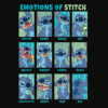 Disney Lilo and Stitch Emotions Of Stitch Panels T Shirt
