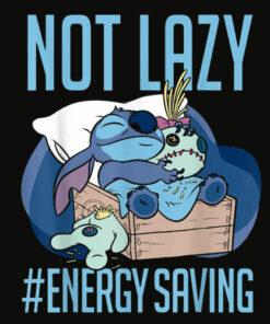 Disney Lilo and Stitch Not Lazy Energy Saving T Shirt