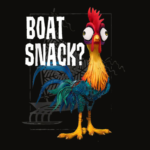 Disney Moana Hei Hei Boat Snack Graphic T Shirt