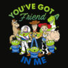 Disney Pixar Toy Story Cartoon Group Shot Graphic T Shirt