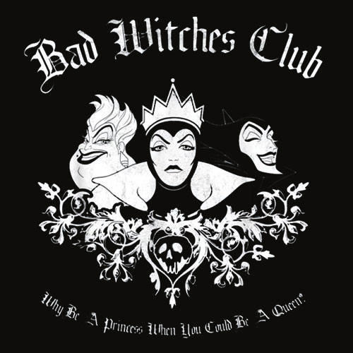 Disney Villains Bad Witches Club Group Shot Graphic T Shirts