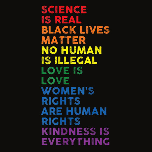 Distressed Science Is Real Black Lives Matter LGBT Pride T Shirt