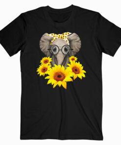 Elephant Sunflower Cute Elephant Love Sunflower T Shirts