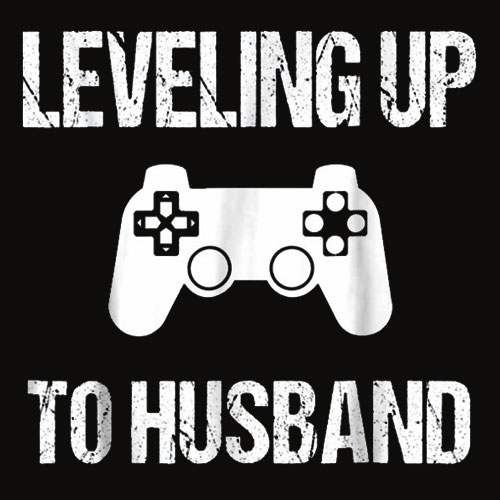 Engagement Tshirt for Groom Video Game Lovers