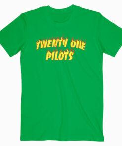 Flame Twenty One Pilots Band T Shirt