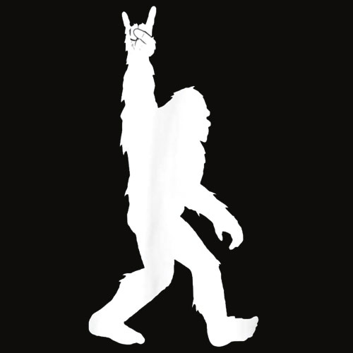 Funny Bigfoot Rock and Roll Tshirt for Sasquatch Believers T Shirt