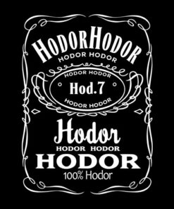 Game Of Thrones Hodor Jack Daniels T Shirt