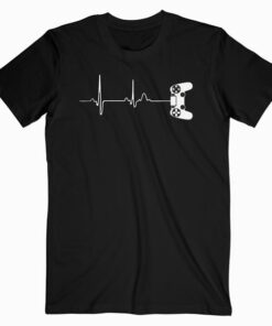 Gamer Heartbeat T Shirt For Video Game Players