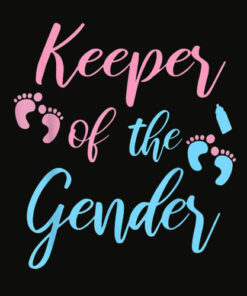 Gender Reveal Shirt Keeper of the gender Party Supplies T Shirt