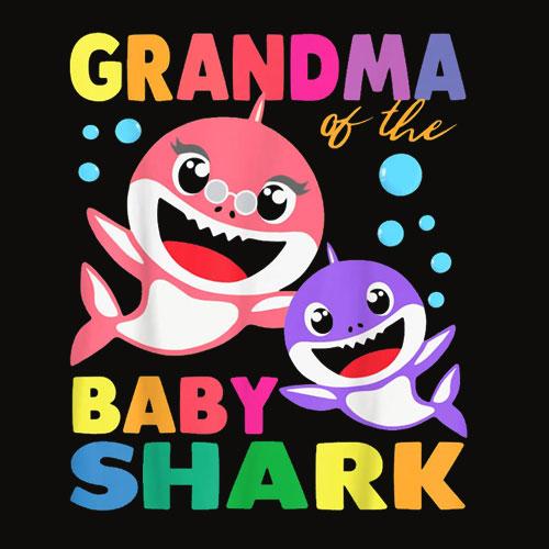 Grandma Of The Baby Shark Birthday Grandma Shark Shirt