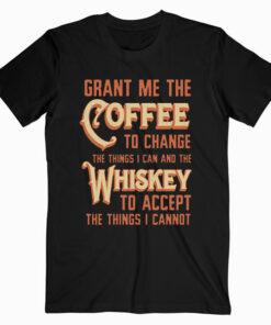 GunShowTees Men's Grant Me Coffee to Change Things T Shirt