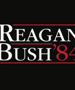 GunShowTees Men's Reagan Bush 84 Vintage