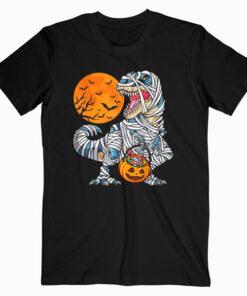 Halloween Shirts for Boys Kids Dinosaur T rex Mummy Pumpkin T Shirt