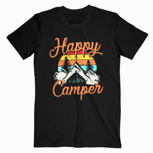 Happy Camper Graphic Tee Shirts