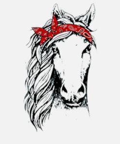Horse Bandana T Shirt for Horseback Riding Horse Lover T Shirt