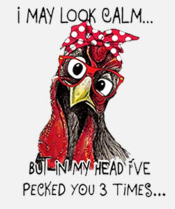 I May Look Calm But In My Head I've Pecked You 3 Times T Shirt