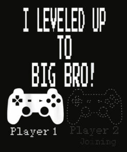 I leveled up to Big Bro Gamer new brother T Shirt