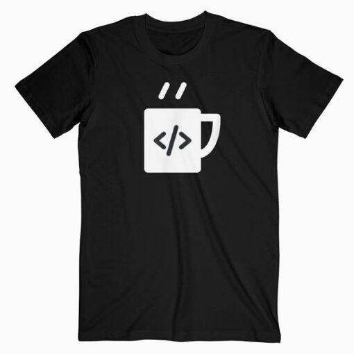 JavaScript Code Coffee Developer Programmer T Shirt