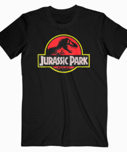 Jurassic Park Distressed Vintage Logo Graphic T Shirt