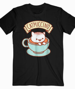 Kawaii Cat T Shirt CATPUCCINO