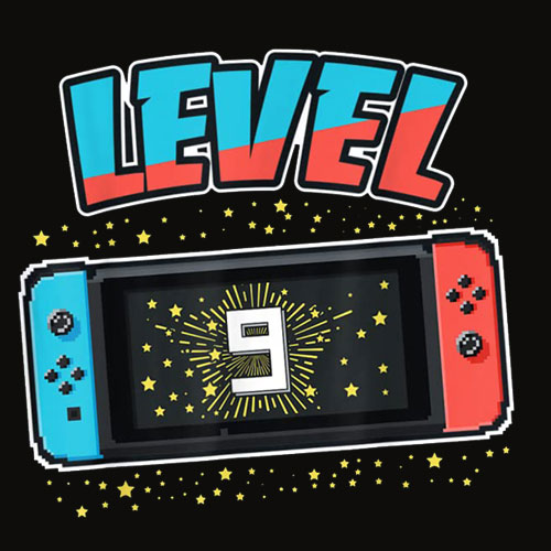 Level 9 Birthday Shirt Boy 9 Years Old Video Games Gift T Shirts