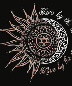 Live by The Sun Love by The Moon Graphic T Shirts