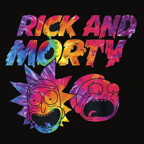 Mademark x Rick and Morty Rick And Morty Tie Dye Drip Graphic T Shirt