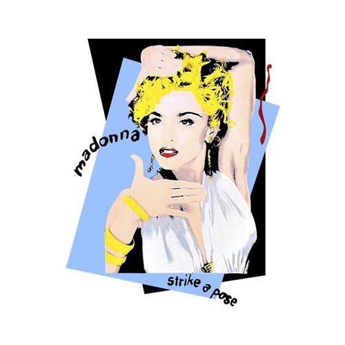 Madonna Licensed Strike A Pose Band T Shirt