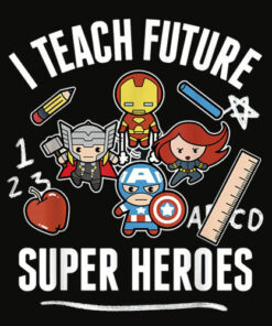 Marvel Avengers Classic Teach Super Heroes Graphic T Shirt