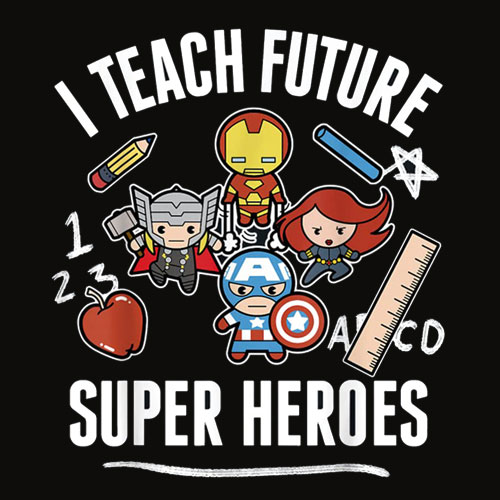 Marvel Avengers Classic Teach Super Heroes Graphic T Shirt