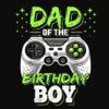 Mens Dad of the Birthday Boy Matching Video Gamer Birthday Party T Shirt
