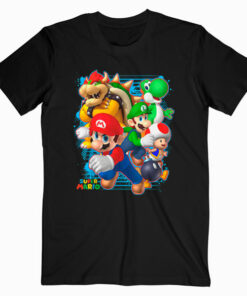 Nintendo Super Mario Luigi Bowser Spray Paint T Shirt