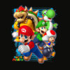 Nintendo Super Mario Luigi Bowser Spray Paint T Shirt