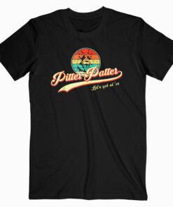 Pitter Funny Patter Let's Get At 'er Retro T Shirt