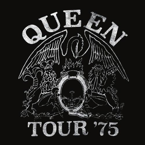 Queen Official Tour 75 Crest Logo T Shirt