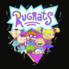RugRats Group Shot Retro Geometric Logo T Shirt