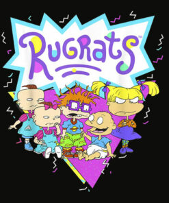 RugRats Group Shot Retro Geometric Logo T Shirt