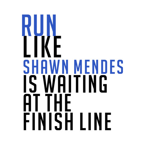 Run Like Shawn Mendes Band Tshirt