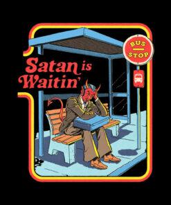 Satan Is Waitin' T Shirt