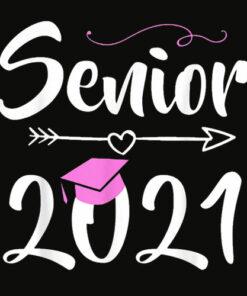 Senior 2021 Graduation Shirt Pink Tassel Class of 21 Gift T Shirt