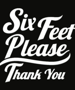 Six Feet Please Thank You Graphic T Shirt