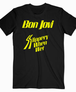 Slippery When Wet Tour Bon Jovi Band T shirt bl