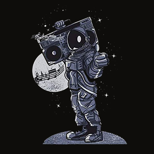 Space Boombox Astronaut Shirt