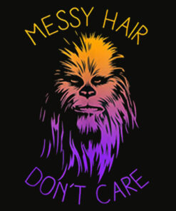 Star Wars Chewbacca Messy Hair Don't Care T Shirt