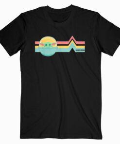 Star Wars The Mandalorian The Child Rainbow Chest Lines T Shirt
