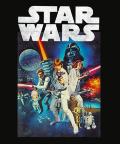 Star Wars Vintage Cast Poster T Shirt