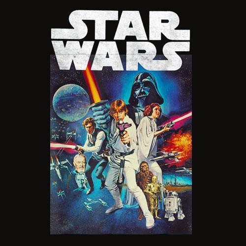 Star Wars Vintage Cast Poster T Shirt