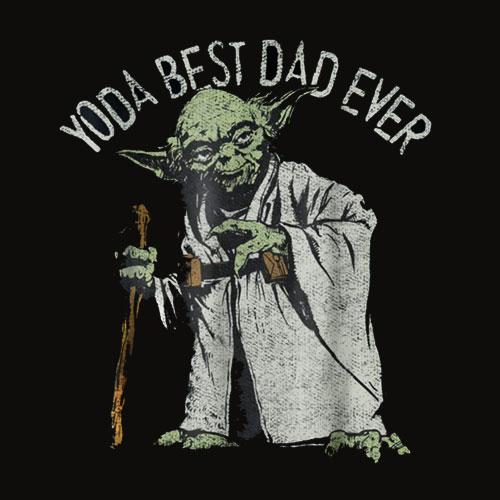 Star Wars Yoda Best Dad Ever Graphic T Shirt